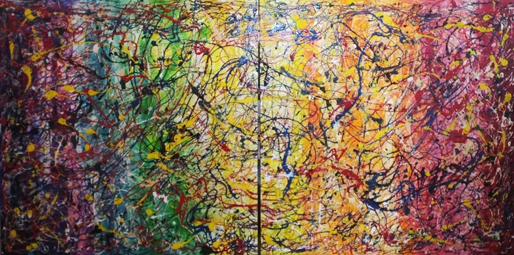 Gradually Transformed (Extremely Large Diptych ) - Image 0
