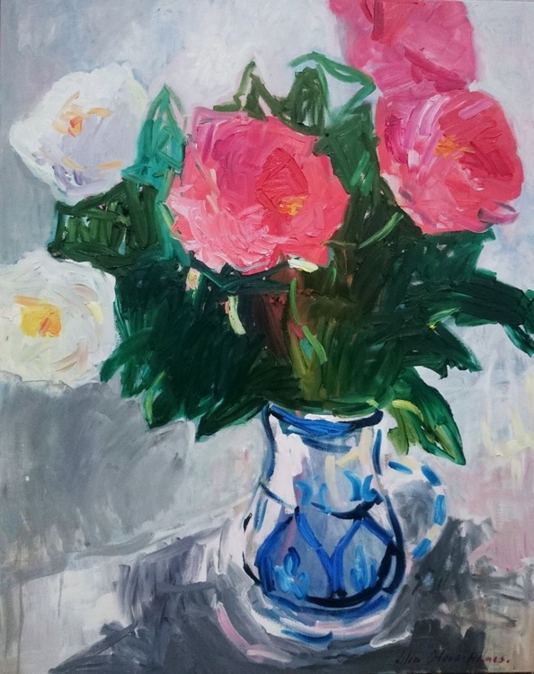 Still life with peonies. - Image 0