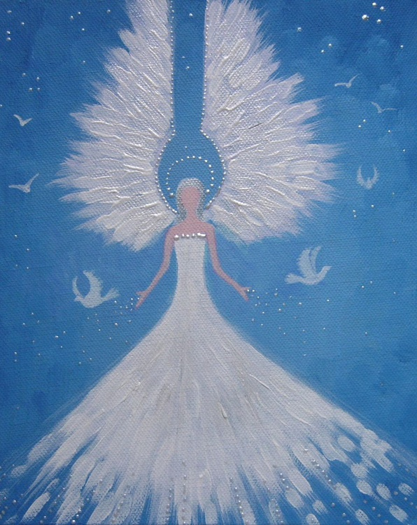 Angel with Doves - Image 0