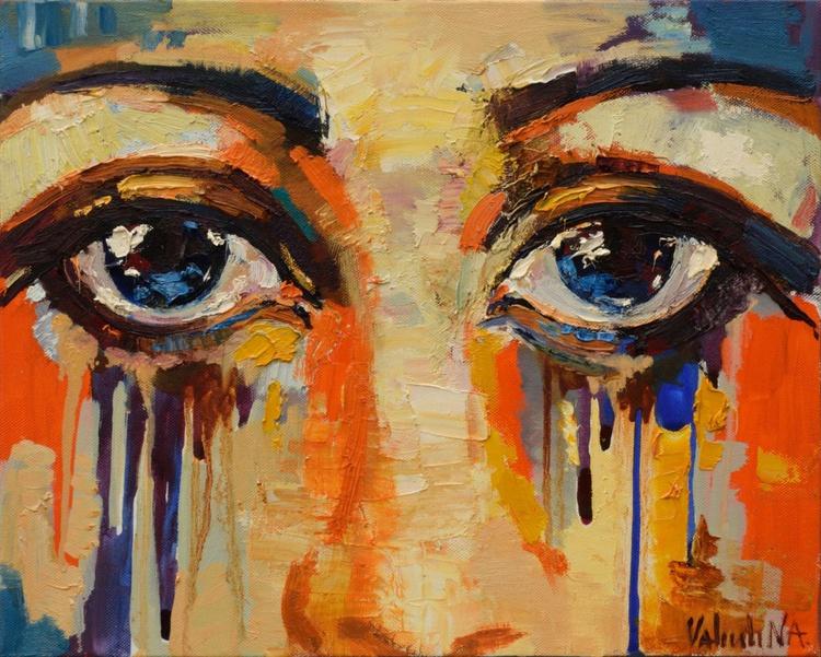 Eyes Painting Original oil painting - Image 0