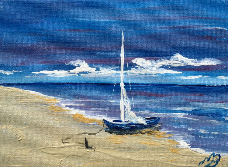 Little boat on the beach - Image 0