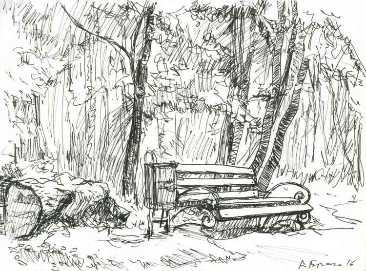 Lonely Bench (sketch)