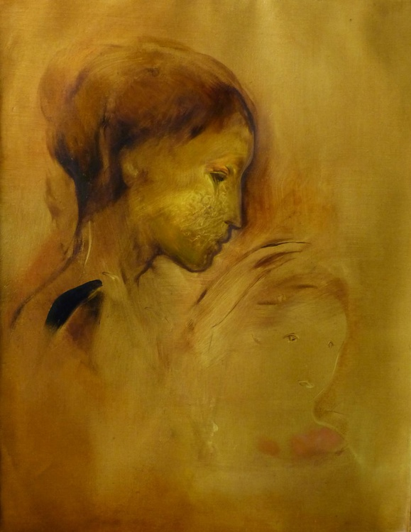 Mother and Son 6, oil on canvas 65x50 cm - Image 0
