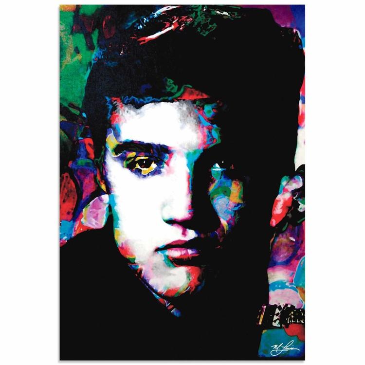 Mark Lewis 'Elvis Presley Electric Ambition' Limited Edition Pop Art Print on Metal - Image 0