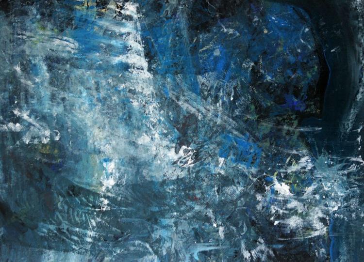 unique way to paint the angel theme spiritual energy cosmic blue light by OVIDIU KLOSKA low price masterpiece - Image 0