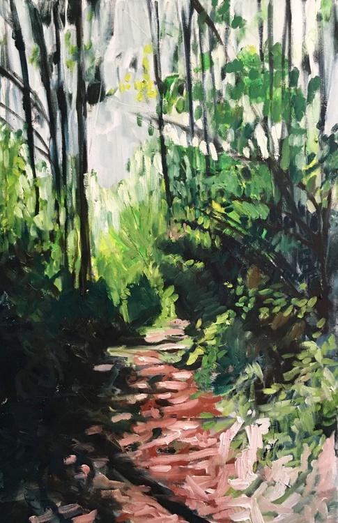 Forest Path II, Large Impressionist Landscape Painting - Image 0