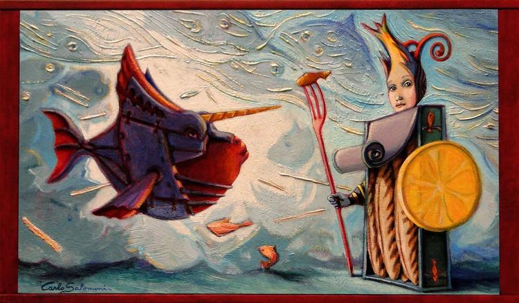 THE WARRIOR FISH - (framed) - Image 0