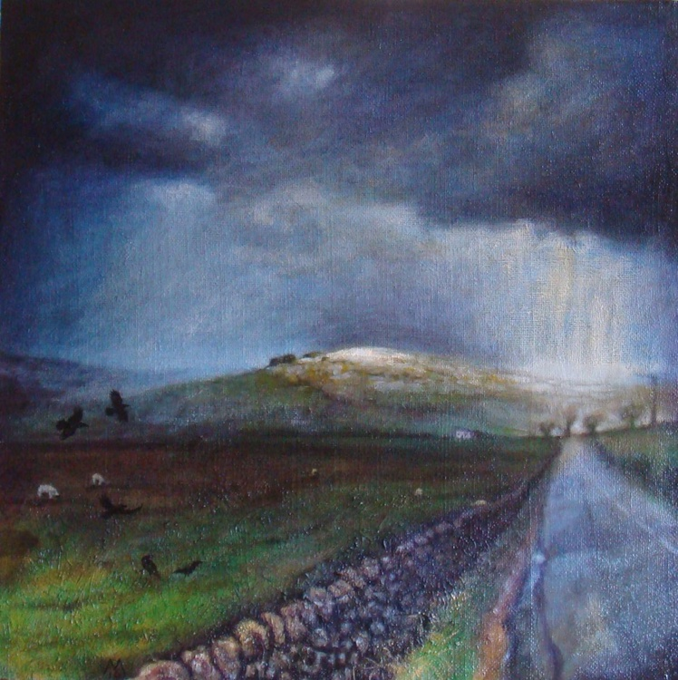 Kirkcarrion with crows and snowstorm - Image 0