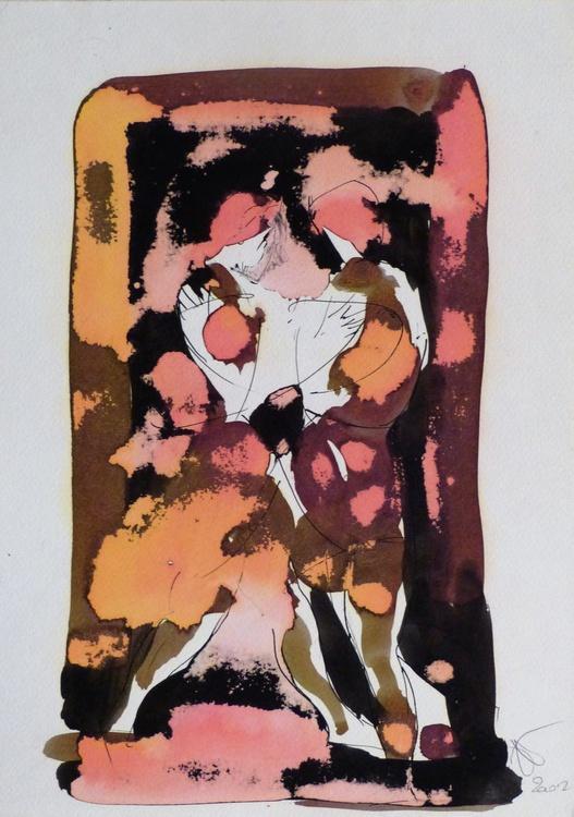A Couple In The Garden, 21x29 cm - Image 0