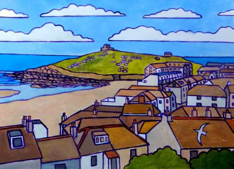 View from The Tate Gallery, St Ives. -