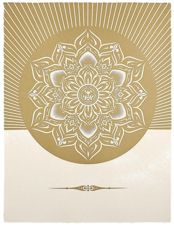 'Obey Lotus Diamond (White & Gold)' - Image 0