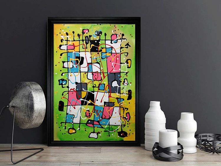 Childhood Abstraction (Ready Framed) - Image 0