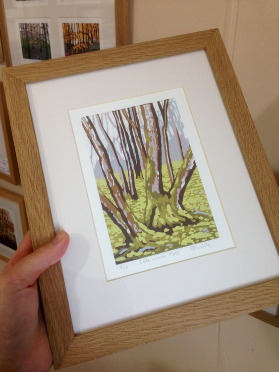 Late Winter Moss (on a Rainy Day), framed - Image 0