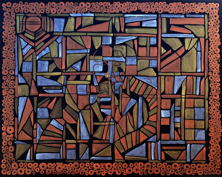 Silent assimilation, 24''x30'' framed and ready to hang - Image 0