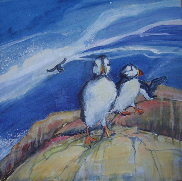 Puffins at Bempton Cliffs, Yorkshire - Image 0