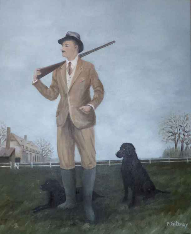 Hunter and his dogs -