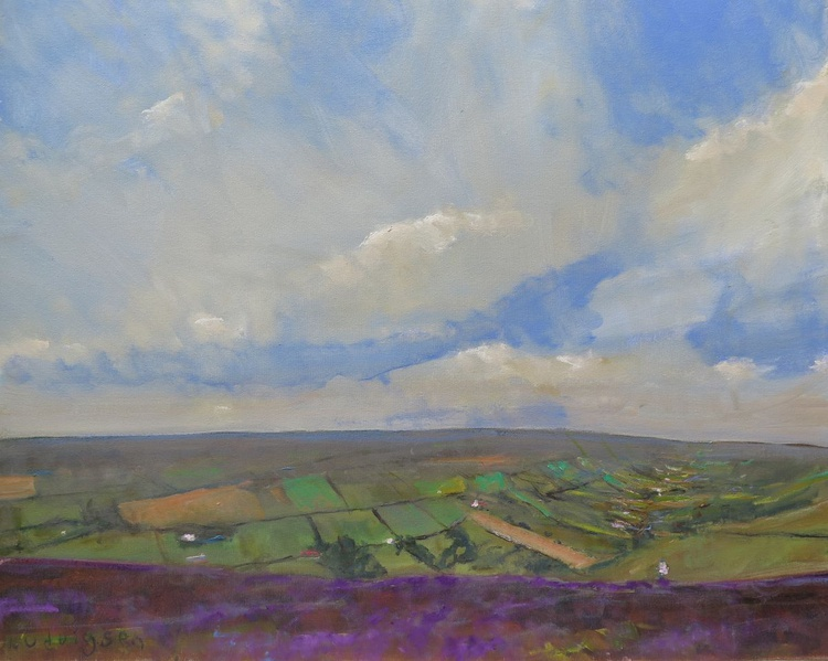 Farndale Heather in the Yorkshire Moors. - Image 0