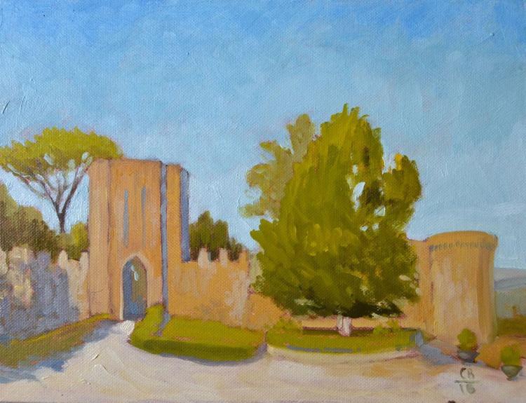 The Fortezza Albornoz in Orvieto Italy Italian Plein Air Landscape Oil Painting - Image 0