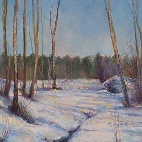 """""""Spring stream 5 - Awakening,  15x30x1.5'', 2016"""" by Alexander Koltakov"""