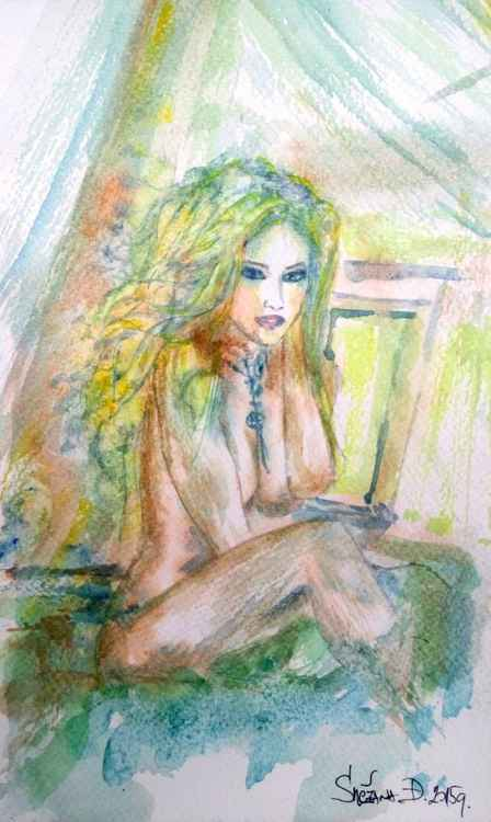 Blue lady .... -