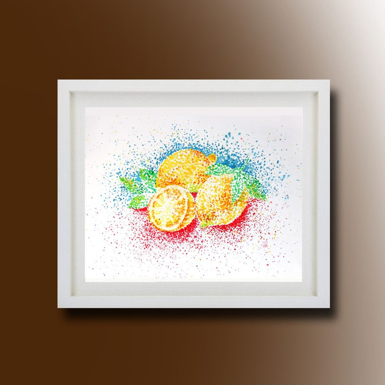 Still Life, Lemon Original Painting - Image 0