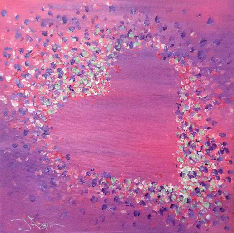 Hearts and Petals 10 x 10ins x 1.5ins