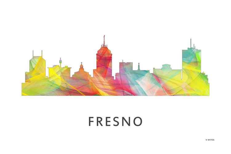 Fresno California Skyline WB1 -