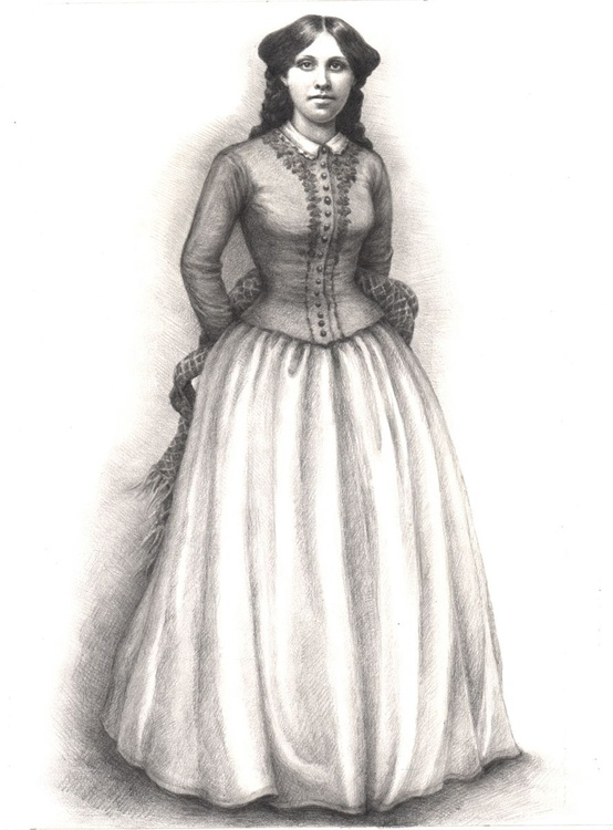 A Portrait of Louisa May Alcott - Image 0
