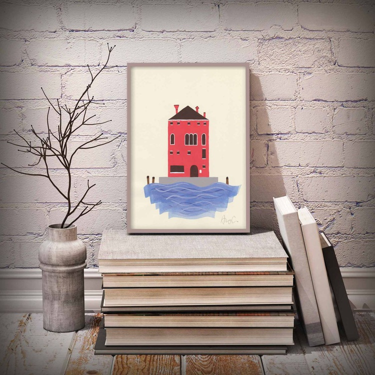 Little red house - Image 0
