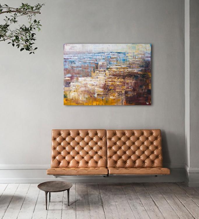 """Canvas art 39.37/27.5(100/70cm). """"City secrets"""". - Image 0"""