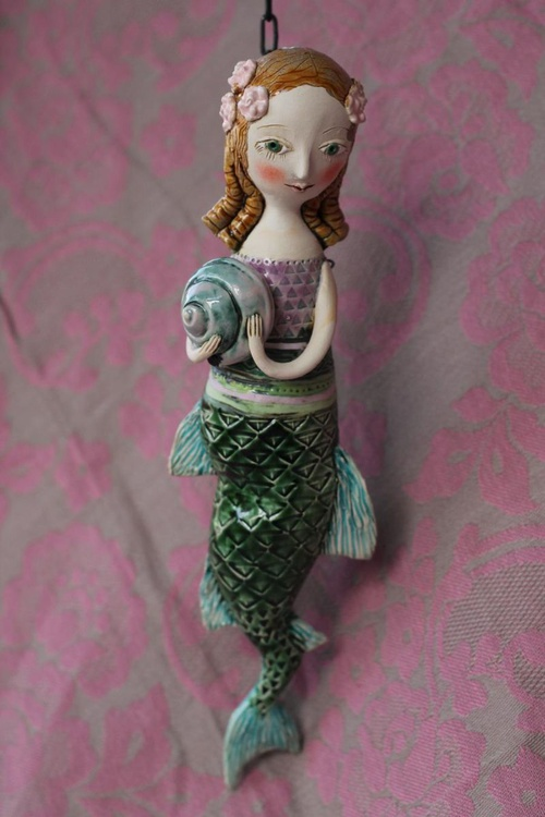 Little Mermaid, hanging sculpture. - Image 0