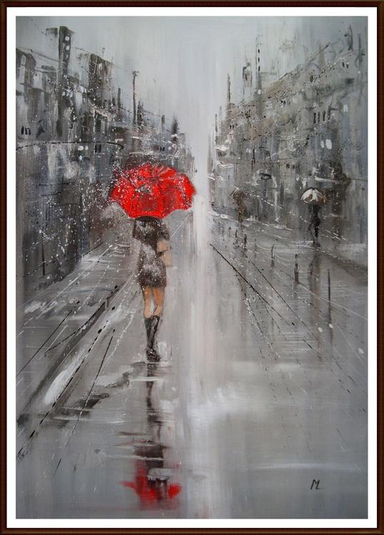 """"""" RED UMBRELLA """" 100x70cm - Image 0"""