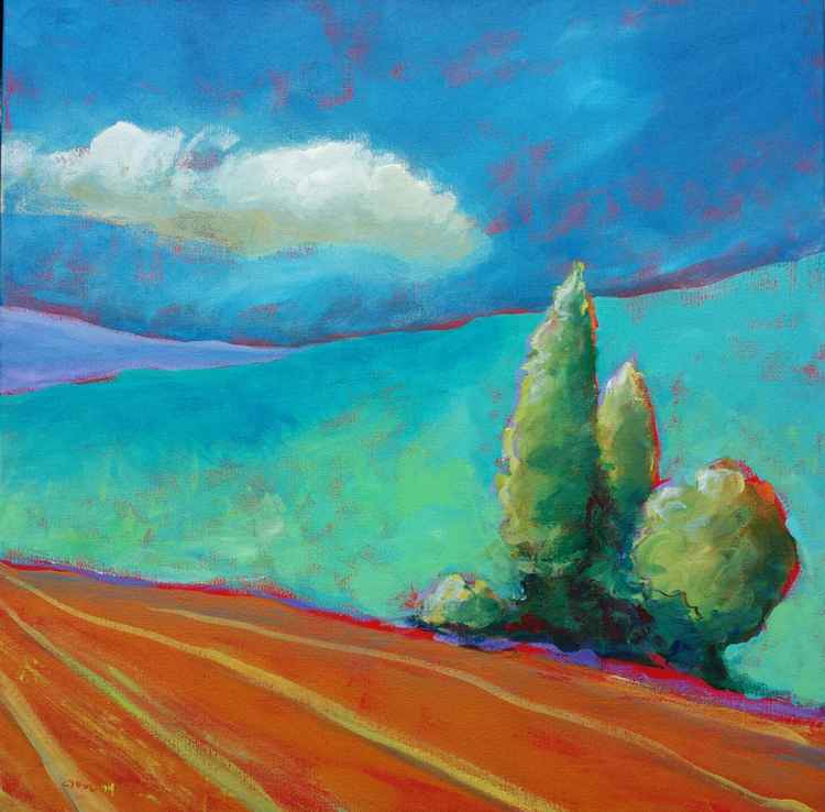 Valley Morning 19 abstract landscape acrylic painting