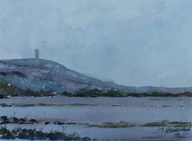 Scrabo from Strangford Lough. -