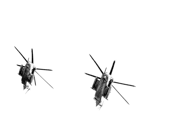 Two Sikorsky CH-53 Helicopters - Image 0