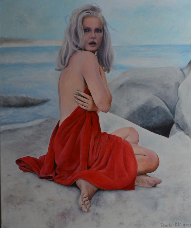 """""""Summer dream"""" original handmade oil painting nude woman by Paola Ali' 60 x 50 canvas - Image 0"""