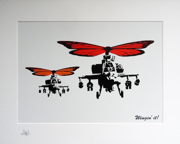 Wingin' it! (Orange wings) - Image 0