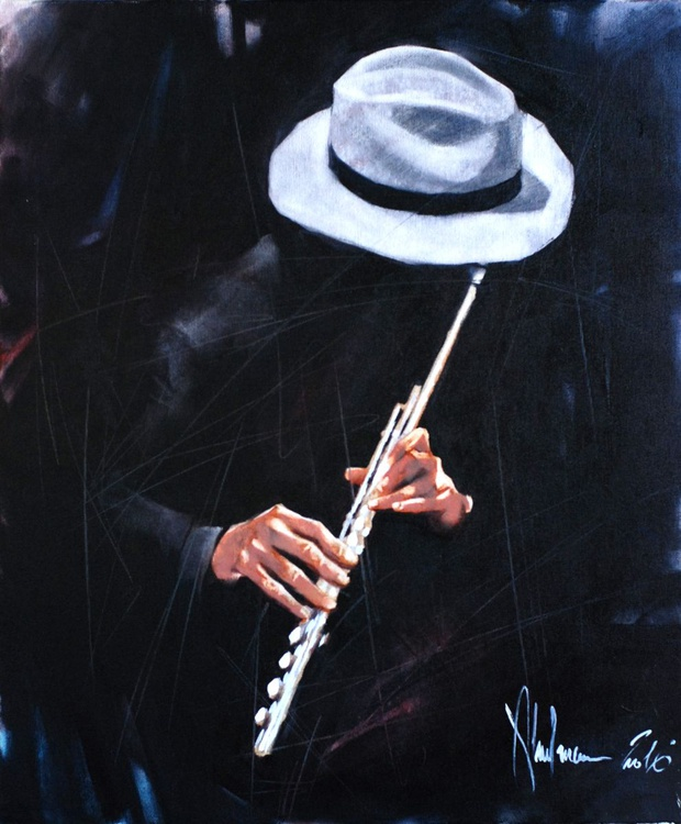 Music original oil painting on canvas - Image 0