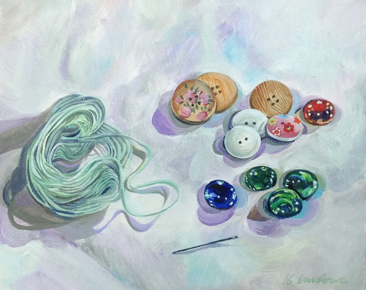 buttons and beads - still life - Image 0