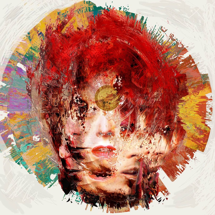 Lazarus - David Bowie Portrait, 23.5 inch Square Edition of 20 - Image 0