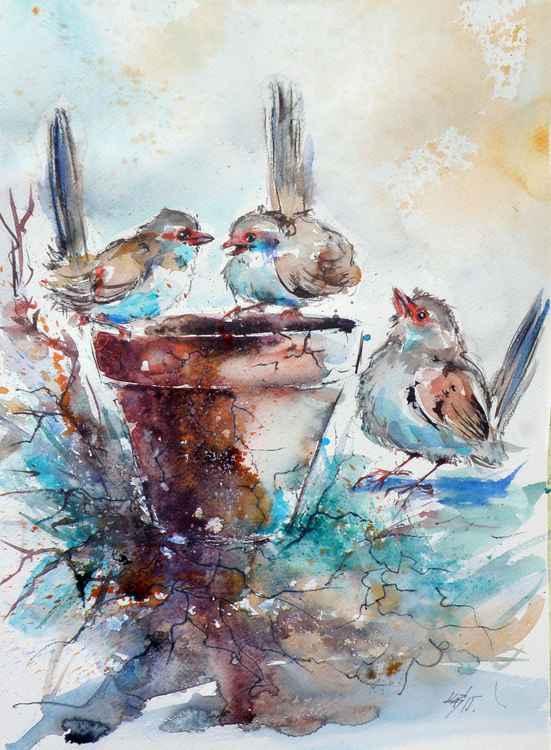 Three birds -