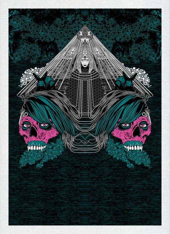 """XWWX - House of Muman (House of Magi) """"Teal & Magenta Amalgam"""" - Image 0"""