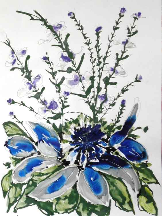 IKEBANA FLOWERS-ACRYLIC -