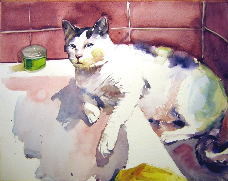 Cat in the bathroom - Image 0