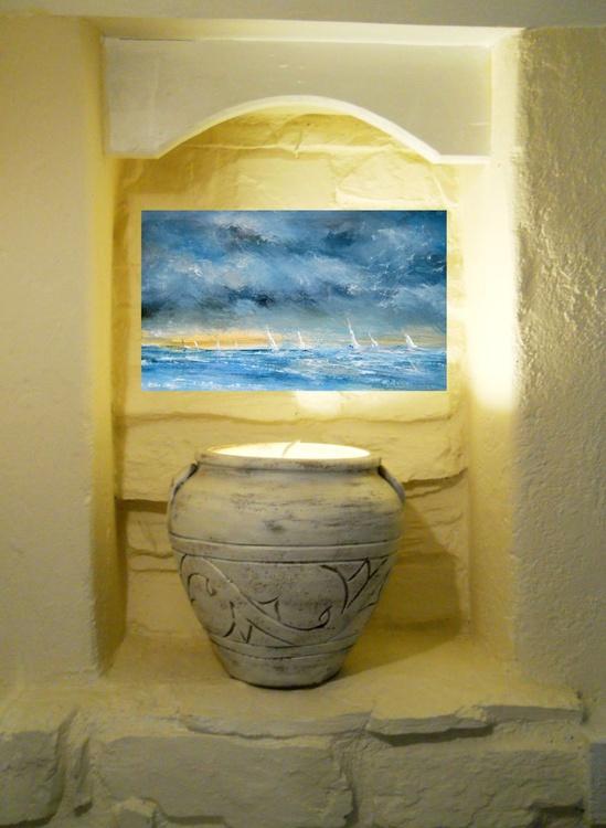 Little boats 3 ~ English Impressionist Painter - Image 0