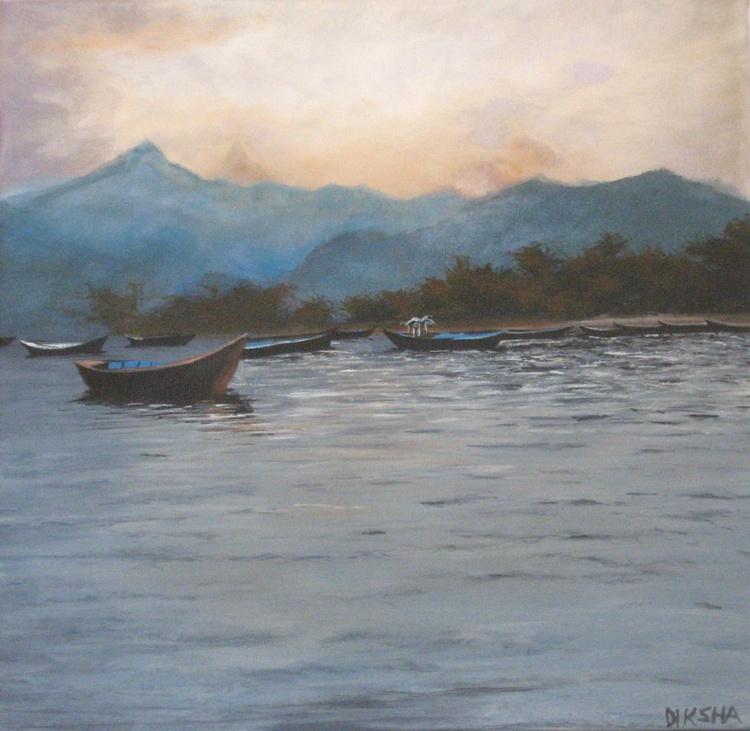 Small boats at evening - Image 0