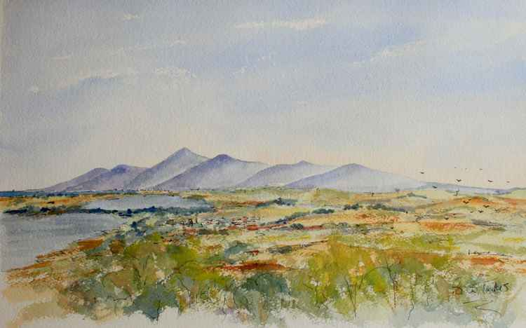 The Mourne Mountains from Dundrum -