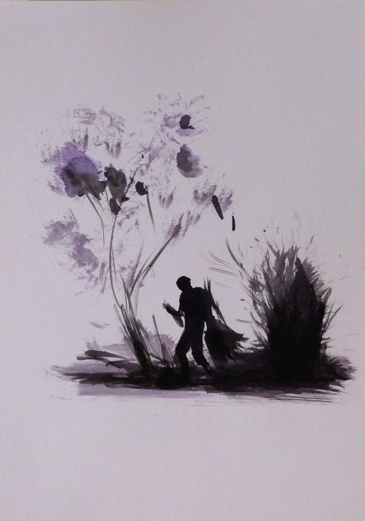 Purple Tree, 21x29 cm - Image 0