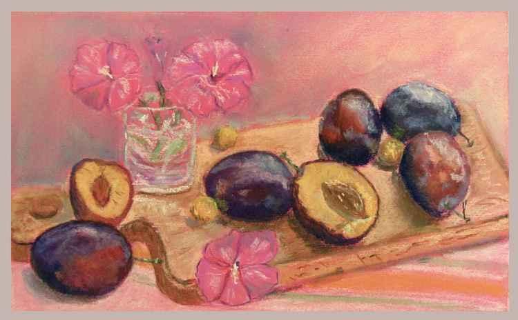 ripe plums -