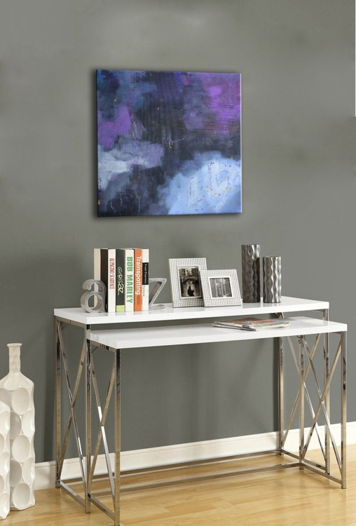 Mist - original abstract blue painting on canvas - Image 0
